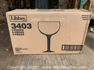 (1) Box Of (6) 38oz Super Bowl Glasses (3404)