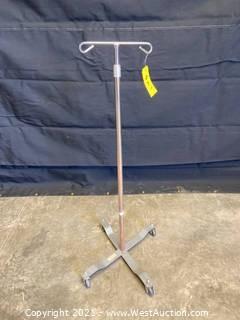 Adjustable Height IV Pole
