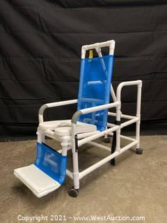 Direct Supply Reclining Shower Chair On Wheels