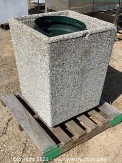 Concrete Waste Bin Enclosure
