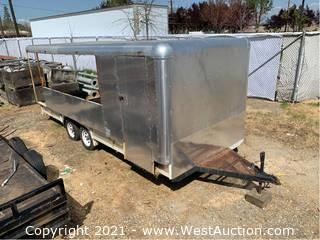 Spencer Custom Built Flatbed Trailer with Open Enclosure