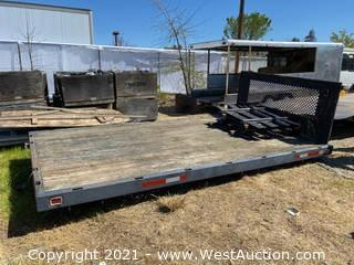 Stake Side 14' Trailer Bed Frame with Side Panels