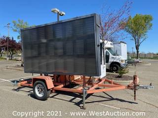 Wanco Trailer Mounted Message Board Sign