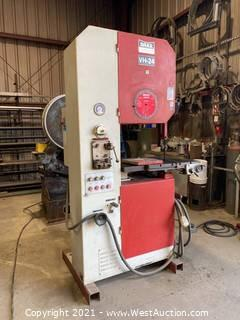 Dake Johnson VH-24 Vertical Band Saw