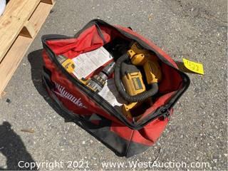 (3) DeWalt Power Tools with Canvas Tool Bag