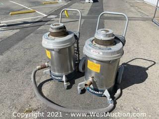 (2) Tornado Heavy Duty Tank Vacuum Units