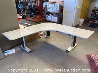 L-Shaped Sit/Stand Electric Desk