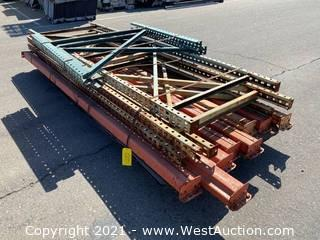 (8) 10' Pallet Racking Crossbeams and (6) Pallet Racking Uprights