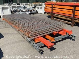 Pallet Racking Uprights, Crossbeams, and Wire Decking