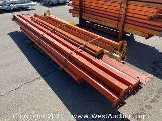 Pallet Of Various Sized Pallet Racking Crossbeams