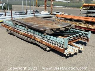 (3) 12' Pallet Racking Uprights and (4) Pallet Racking Crossbeams