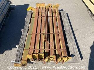 """(8) 54.5"""" Pallet Racking Crossbeams"""