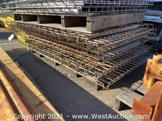 (12) 5'x4' Pallet Racking Wire Decking
