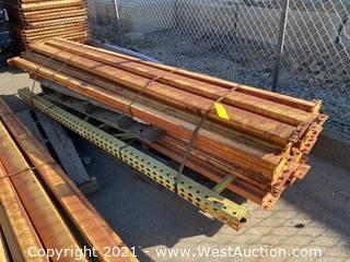 Bundle Of Pallet Racking Uprights And Crossbeams
