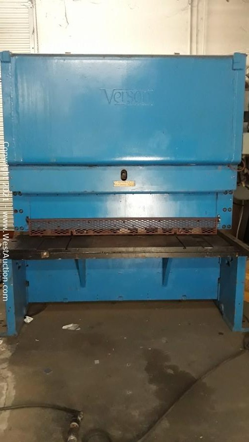 """Online Auction of 200 Ton 10' Pacific Hydraulic Press Brake & Version 1/2"""" x 6' Capacity Mechanical Shear"""