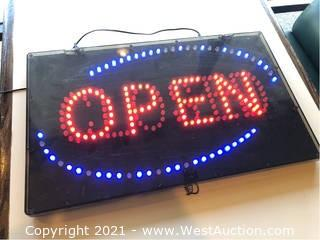 Open/Closed Neon Sign