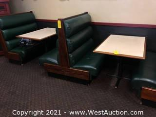 (2) Wood Top Tables