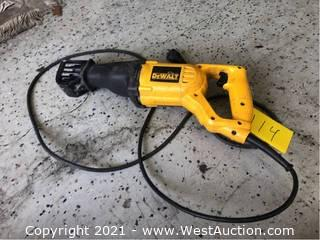 Dewalt DW304P Reciprocating Saw With Case And Attachments