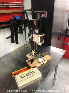 Jet Benchtop Mortise Machine With Bits