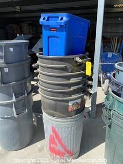(8) Assorted Trashcans