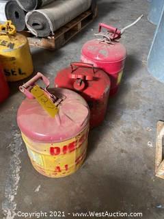 (3) Diesel Safety Cans