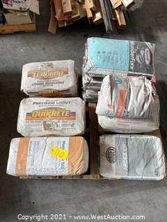 Pallet Of Assorted Grout, Mortar, Concrete