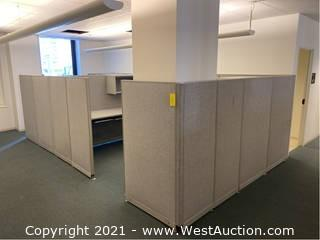 (1) Section Of Cubicles / 2 Workstations