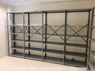 "(9) Metal Shelving Units 36"" x 18"" x 67 Each"