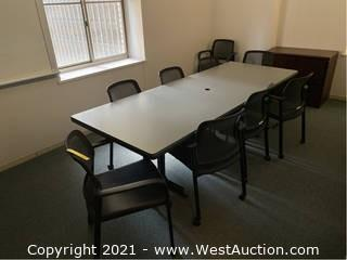 Contents Of Room; Conference Table, Chairs and File Cabinet