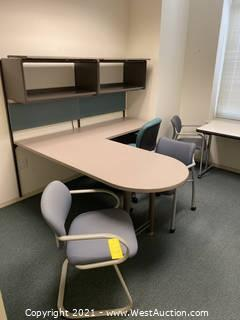 Contents Of Room; Chairs, Desk, Table and Filing Cabinets