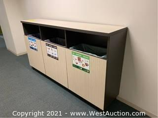 Cabinet Storage for 3 Waste and Recycle Bins