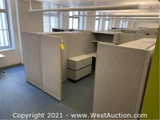 (1) Section Of Cubicle / 4 Workstations