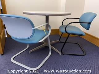 Round Table & (2) Chairs