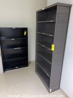 (3) Metal Shelves