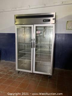 Two Door Glass Merchandise Refrigerator