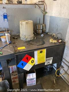 Oil Waste Disposal Table