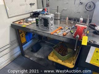 Steel Work Bench 9'