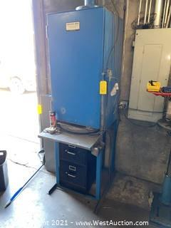 Aboytes Mfg Paint Booth and File Cabinet with Spray Paint