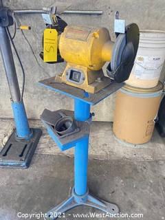 """DeWalt DW756 6"""" Bench Grinder on Pedestal"""