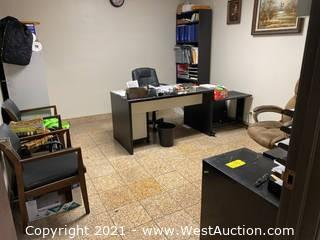 Bulk Lot; Office Furniture And Cabinets