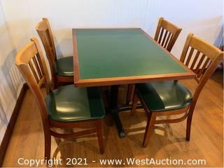 (1) Table with (4) Chairs