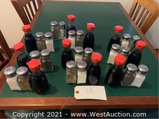 (10) Salt, Pepper And Soy Sauce Containers Set