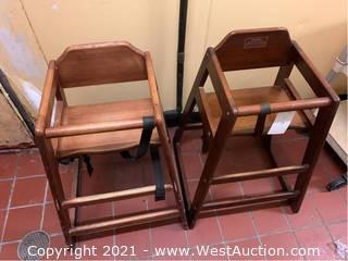 (2) Wooden Children Highchairs