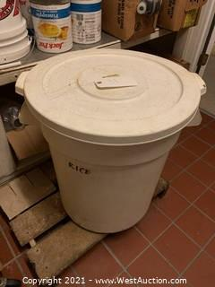 Large Plastic Food Container, Used for Rice