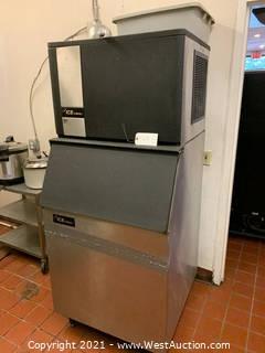 Ice-O-Matic Ice Maker with Ice Storage Bin