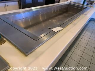 Single Well Drop-In Countertop Food Warmer