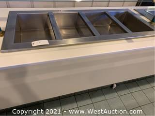 4-Well Drop-In Countertop Food Warmer