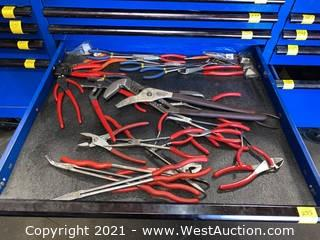(1)  Drawer of Assorted Pliers & Wire Cutters