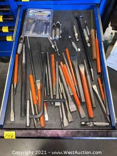 (1)  Drawer of Assorted Chisels & Punches