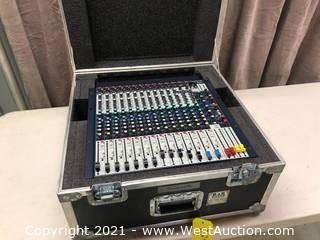 Soundcraft GB2R 12/2 Analog Mixer in Road Case
